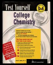 Test Yourself:  College Chemistry - Sample Exams,  Q & A  Complete Year -  NEW
