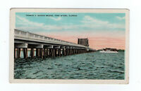 Thomas Edison Bridge Ft Meyers FL with Poem by W F Atwood c 1930