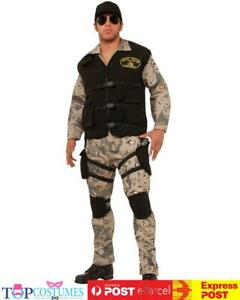 SEAL Team 4 Army Costume Mens Police Military Uniform Halloween Outfit