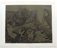 PABLO PICASSO  - Linoleo original 1962 - Edition Cercle D´art. 37x32 cm.