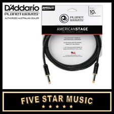 D'ADDARIO PLANET WAVES AMERICAN STAGE SERIES GUITAR CABLE 10' PW-AMSG-10 NEW