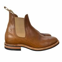 "Viberg ""Used Tan"" Chelsea Boot  2050 Last Light Brown Men's Size 9 $895"