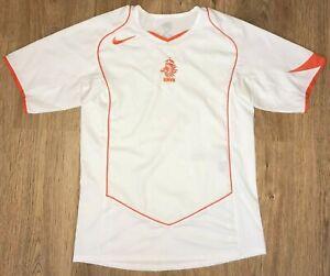 Holland Netherlands 2004 - 2006 vintage Nike white away shirt size S