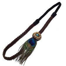 Stirnband Pfau Böhmen Stil Hippie Haargummi Peacock Stirnband Haarband Kopfband