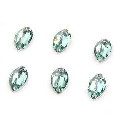 200x Light Green Resin SEW-ON Epoxy Stones Beads 6*12mm 24024