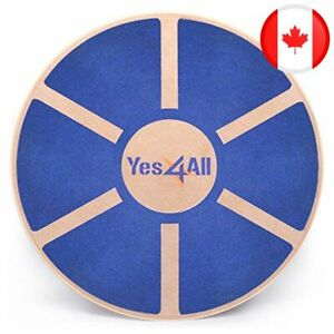 Yes4All Wooden Wobble Balance Board - Round Balance Board/ Stability Board for P
