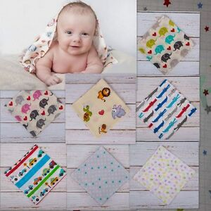 Lovely Printed Muslin Squares Super Soft 100% Natural COTTON 70x80cm made in EU
