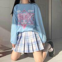 Women Cartoon Pullover Blouse Sweatshirt Jumper Top Harajuku Cute Kawaii Casual