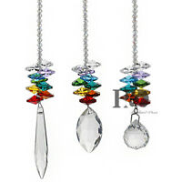 3PCS Window Rainbow Handmade Suncatcher Crystal Prisms Ball Pendant Home Decor