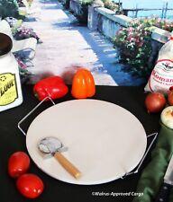 VIA TUTTO ITALIANO PIZZA STONE SET -NIB- ENJOY A PERFECTLY BAKED SLICE OF LIFE!