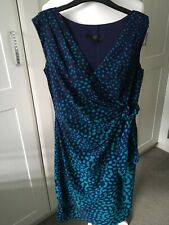 Coast Dress Fiffed Size 8 Navy And Torquise Used