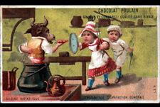 IMAGE CHROMO CHOCOLAT POULAIN / CHANSON CUISINIER / POT au FEU avec BOVIN Humain
