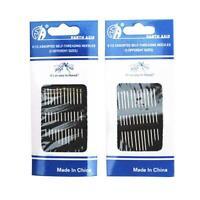 12pcs/setSelf threading Needles Pack Assorted Sizes Pins Thread Stitching S I8I7