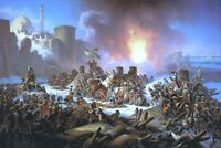 """perfect 36x24 oil painting handpainted on canvas """"Victory of Ochakiv""""@N11079"""