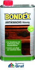 Bondex Antique Wax Liquid 0,5 L / Wood Wax for Finishing and Care for Indoors