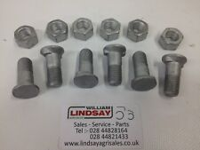 Pack Of 6 Genuine Overum  Plough Mouldboard & Point Tip Special Bolt