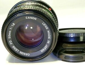 Canon f1.8 FD manual focus Lens adapted to Sony E mount α6100 α6400 cameras