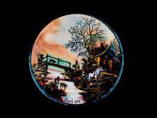 Noel 1974 Christmas Enamel Ltd Ed Plate Jean-Paul Loup Betourne Studios Limoges