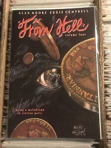 FROM HELL VOL. 4 ALAN MOORE EDDIE CAMPBELL 1994 mad love kitchen sink press