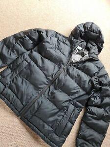 Mens Columbia Size M Black Puffer Coat Hooded
