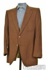 LANVIN Carmel Brown FEATHER SUEDE 3x Patch Pocket Blazer Sport Coat Jacket 42 R