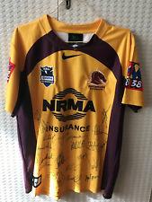 Brisbane Broncos Signed 2012 Away Jersey NRL Rugby League