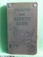 Vintage...HEALTH and SAFETY CODE  (1958)  U.S. Department of Agriculture