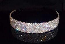 Crystal Hairband-str001 WIDE-Crystal AB