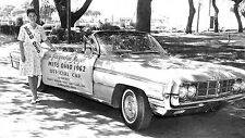 Miss Ohio 1962 with 62 Olds Starfire Official Pace car  8 x 14  Photograph