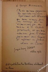 La ligne de vie. EO avec EAS à Bernanos. coll Orbes n° 2. 3 portraits. 1931