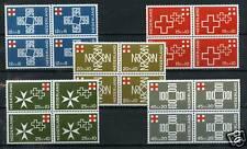 Nederland Rode Kruis 1967 889-893 blokken v 4 -Red Cross cat waarde € 9,20
