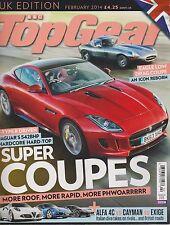 BBC TOP GEAR UK MAGAZINE Feb 2014, SUPER COUPES.