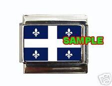 Quebec Provincial Flag Custom Italian Charm Canada