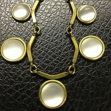 GLASS AND BRASS LINK NECKLACE