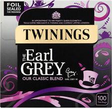 Twinings Classic EARL Grey Tea 1 Box of 100 Tea Bags