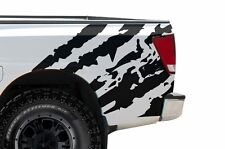Custom Vinyl Rear Decal Ripped Wrap Kit for Nissan Titan Truck 04-13 Matte Black
