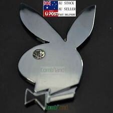 3D Bunny Rabbit Playboy Chrome Metal Badge Emblem Sticker Decal Car Phone Bike