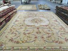 9' x 12' Reproduction Hand-knotted Thick Plush Wool French Savonnerie Rug 8902