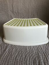 IKEA - FÖRSIKTIG Children's stool, white, green - Plastic step stool for kids