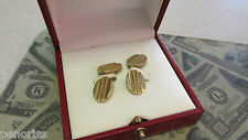 Signed Cufflinks with Box Estate Cartier 14k Gold