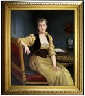 Framed Quality Hand Painted Oil Painting Repro Bouguereau Lady Maxwell, 20x24in