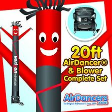 Red & Black Verizon Wireless Air Dancer ® & Blower 20ft Sky Dancer Set