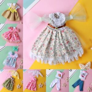 Doll Clothes Fit To 28cm Doll BJD Accessories 10-12inch Doll Clothes Dress Up