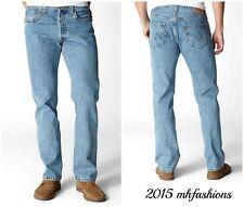 Levi's Mens 501 Original Straight Leg Jeans,Color Light Stonewash Size 38 x 32