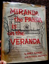 Miranda The Panda Is On The Veranda Patricia Highsmith 1958 1st Edit. HB DJ Rare