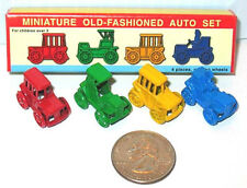 "4 Miniature Diecast Metal ANTIQUE AUTOS 3/4x3/4"" MINT IN BOX Rare! Shackman TOYS"