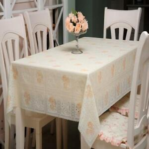 1pcs PVC Tablecloth for Table Cloths Crocheting and Lace Tablecloth Waterproof
