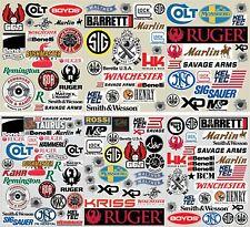 Gun Pistol Rifle Hunting Sticker Decal 15 Pack Lot 9mm 40 451911 AR Military