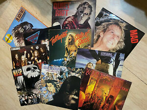 lotto 10 dischi heavy metal - scorpions - wasp - ted nugent - raven - dickinson