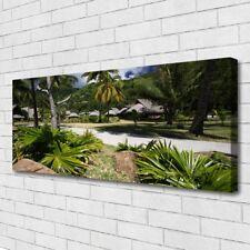 Leinwand-Bilder Wandbild Canvas Kunstdruck 125x50 Blätter Palmen Natur
